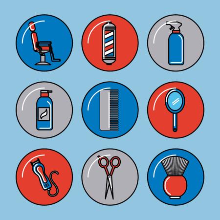icons set barber shop illustration icon vector graphic design