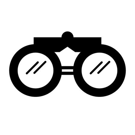black icon binoculars cartoon vector graphic design