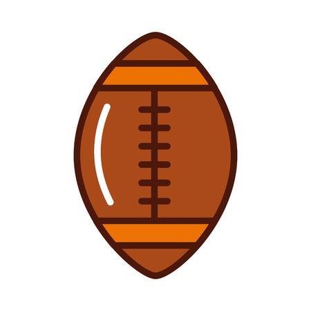 brightly american football ball cartoon vector graphic design 版權商用圖片 - 79942765
