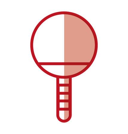 schaduw rode Ping pong racket cartoon vector grafische vormgeving