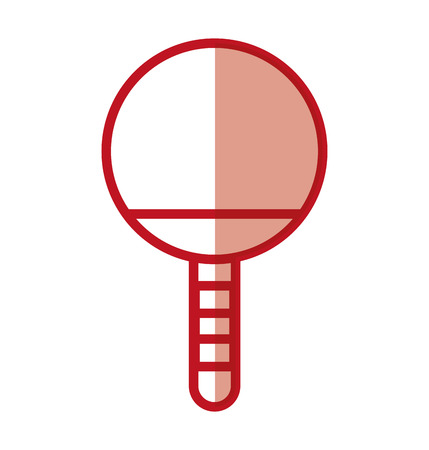 shadow red Ping pong racket cartoon vector graphic design Illustration