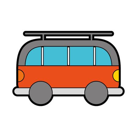 cute orange car cartoon vector graphic design