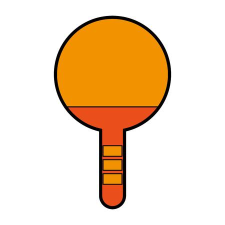schattig oranje Ping pong racket cartoon vector grafische vormgeving