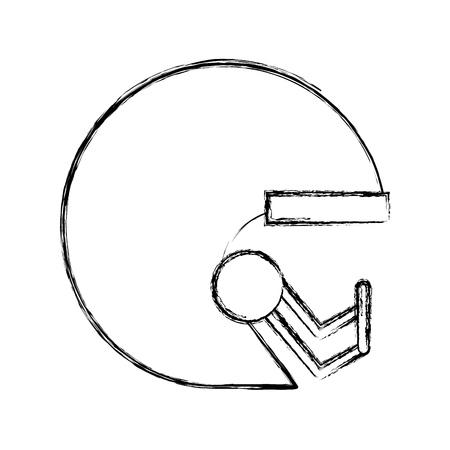cute sketch draw football helmet cartoon vector graphic design