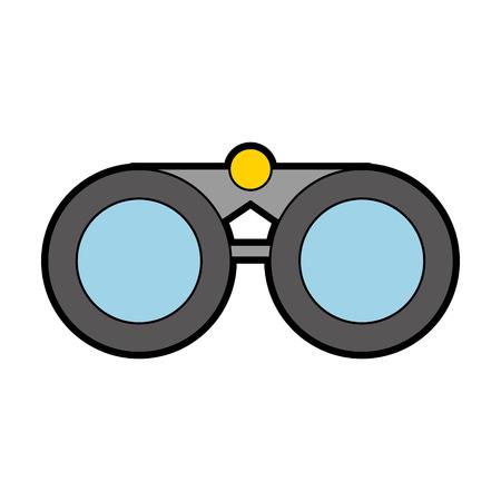 cute grey binoculars cartoon vector graphic design Çizim