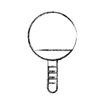 schattige schets tekenen Ping pong racket cartoon