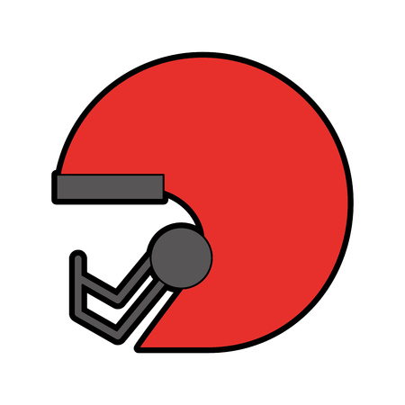 cute red football helmet cartoon vector graphic design