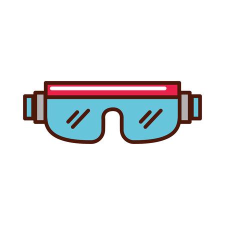 snowboard beschermende bril cartoon vector grafische vormgeving