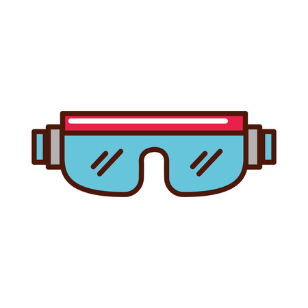snowboard protective glasses cartoon vector graphic design