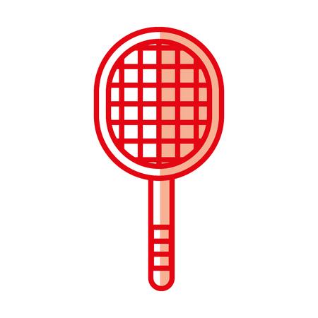 shadow cute red sport racket cartoon vector graphic design