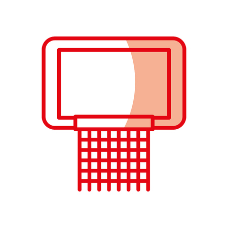 shadow cute red basketball hoop cartoon vector graphic design