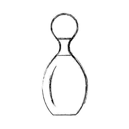 spare: sketch draw bowling pin cartoon vector graphic design Illustration