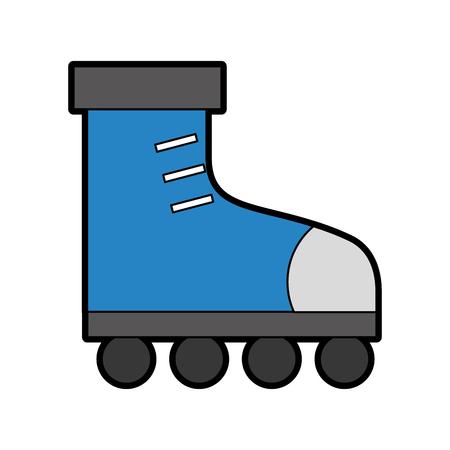 Conception graphique de vecteur de dessin animé mignon patin à glace Banque d'images - 79942889