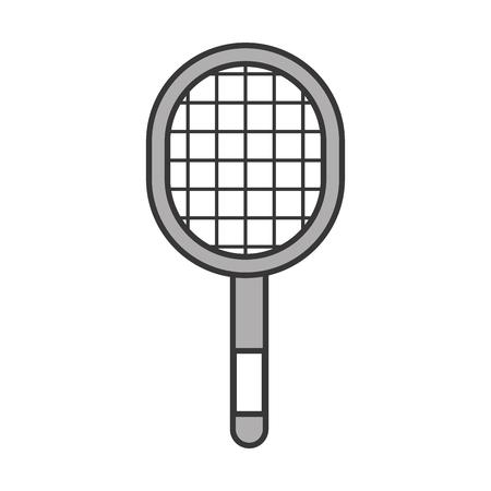 cute grey sport racket cartoon vector graphic design