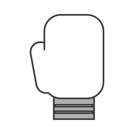 귀여운 회색 Boxin 장갑 만화 벡터 그래픽 디자인
