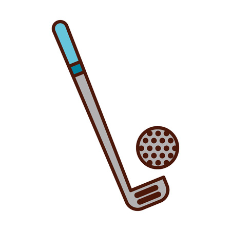 brightly golf club and ball vector graphic design