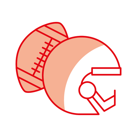 shadow red football helmet and ball vector graphic design