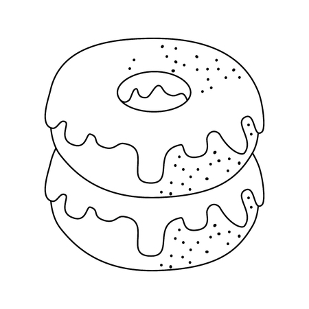 sweet donuts icon over white background vector illustration Illusztráció