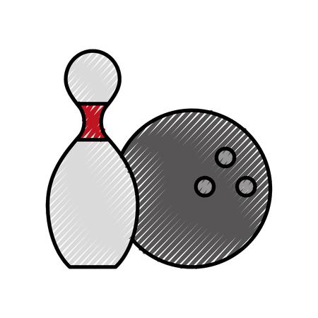 Broche gribouillis mignon et conception graphique de vecteur de dessin animé de balle Banque d'images - 79943065