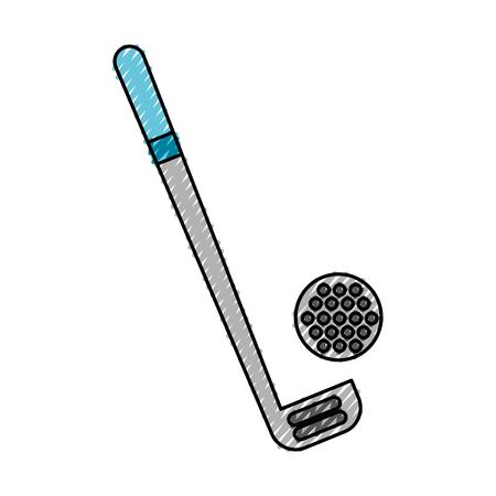 scribble golf club and ball vector graphic design Иллюстрация