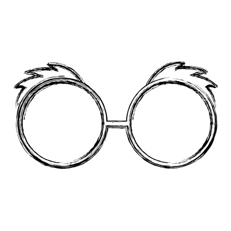 sketch draw glasses cartoon vector graphic design