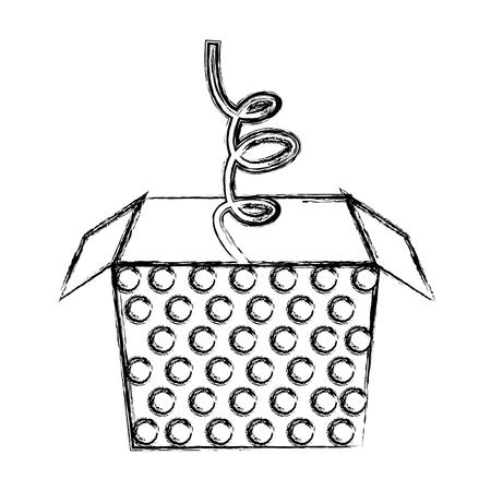 sketch draw jack in the box cartoon vector graphic design