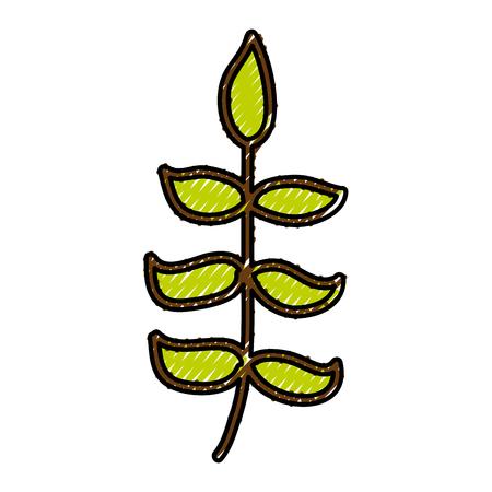 Krabbel bush cartoon vector grafische ontwerp pictogram