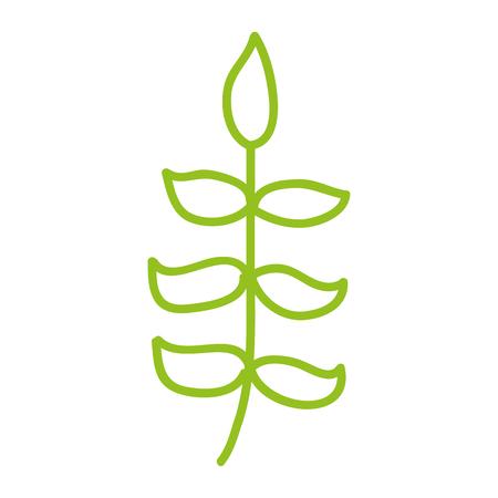 lijn pictogram groene bush cartoon vector grafische vormgeving Stock Illustratie