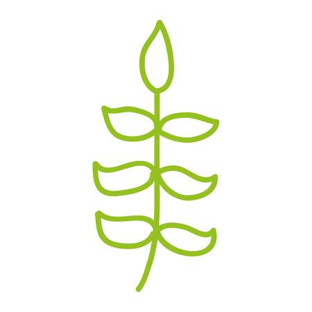 line icon green bush cartoon vector graphic design