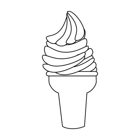 flavor: ice cream icon over white background vector illustration
