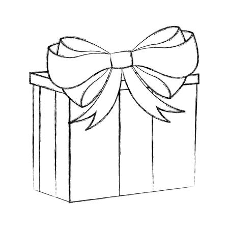 sketch draw christmas gift cartoon vector graphic design royalty