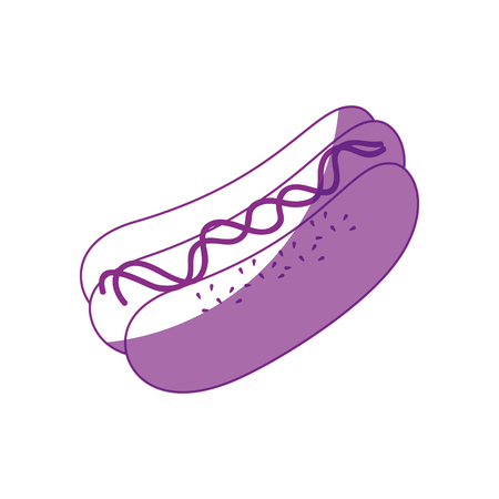 hot dog icon over white background vector illustration