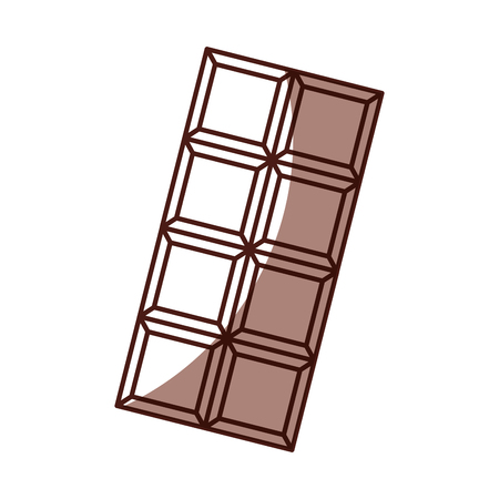 shadow chocolate bar cartoon vectro graphic design