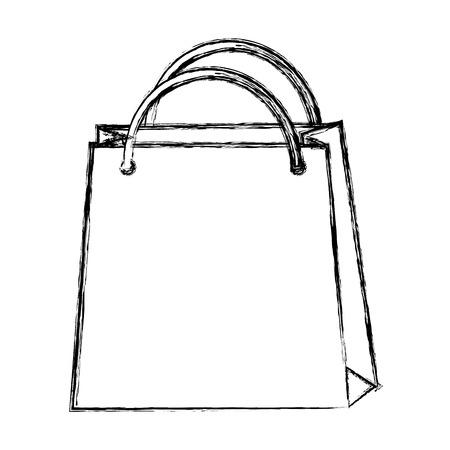 vectro: sketch draw shopping bag cartoon vectro graphic design