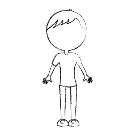 sketch draw body man cartoon vector graphic design