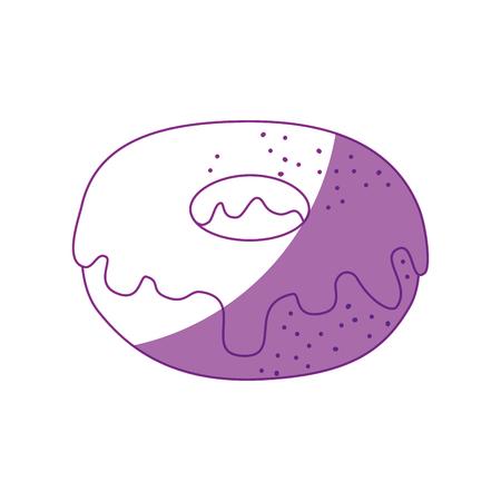 sweet donut icon over white background vector illustration Illusztráció