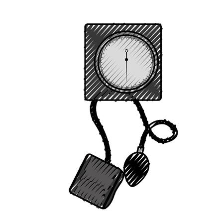 Garabato Sangre plessure aparato dibujos animados vector de diseño gráfico Foto de archivo - 79967398