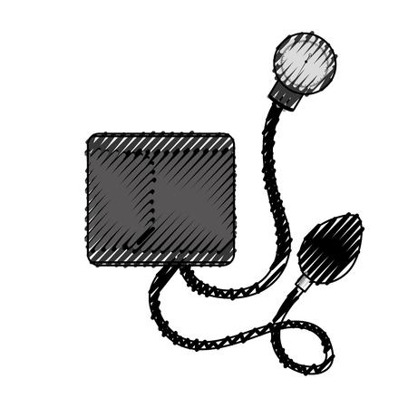 scribble Blood plessure apparatus cartoon vector graphic design
