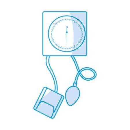shadow blue blood plessure apparatus cartoon vector graphic design