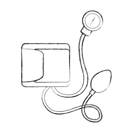 スケッチを描く血 plessure 装置漫画ベクトル グラフィック デザイン