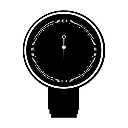 black icon blood plessure apparatus cartoon vector graphic design