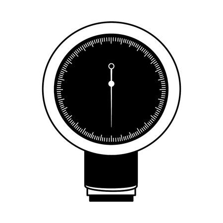 Icono negro sangre plessure aparato dibujos animados vector de diseño gráfico Foto de archivo - 79967426