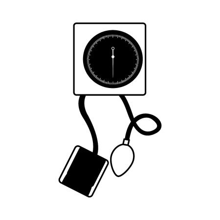Icono negro sangre plessure aparato dibujos animados vector de diseño gráfico Foto de archivo - 79967425