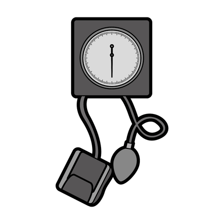 cute grey blood plessure apparatus cartoon vector graphic design Çizim