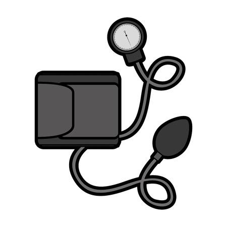 かわいいグレー血液 plessure 装置漫画ベクトル グラフィック デザイン