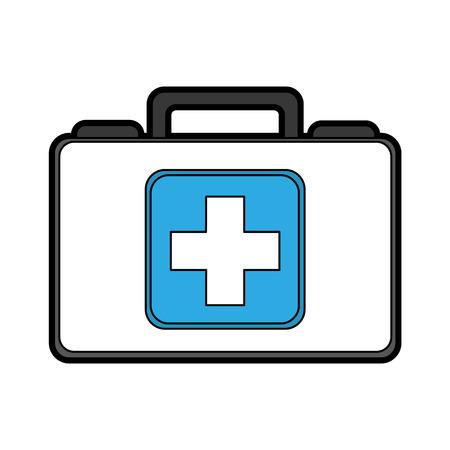 cute blue medical bag cartoon vector graphic design Ilustracja