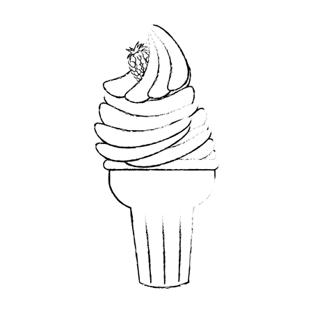 ice cream icon over white background vector illustration