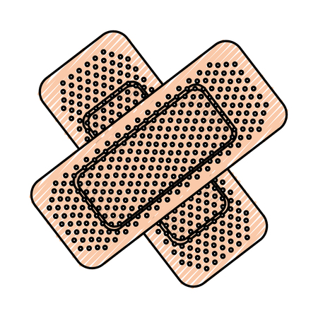 scribble bandage plaster cartoon vector graphic design Ilustrace