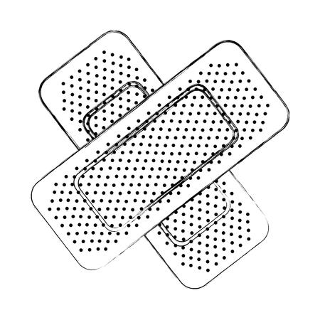 schets tekenen verbanden gips cartoon vector grafische vormgeving Stock Illustratie