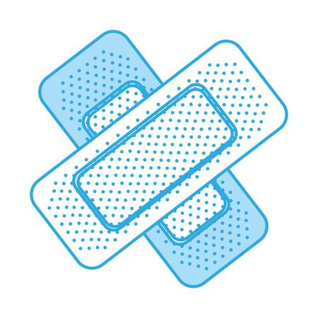 shadow blue bandage plaster cartoon vector graphic design